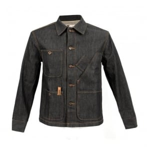 Tellasson Coverall Dark Wash Denim Jacket 1954.02