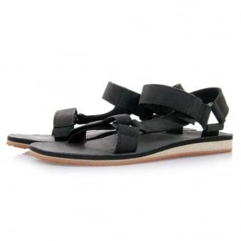 Teva Original Universal Black Leather Sandals 1006315