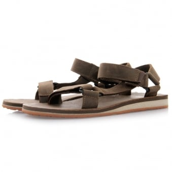Teva Original Universal Dark Earth Leather Sandals 1006315