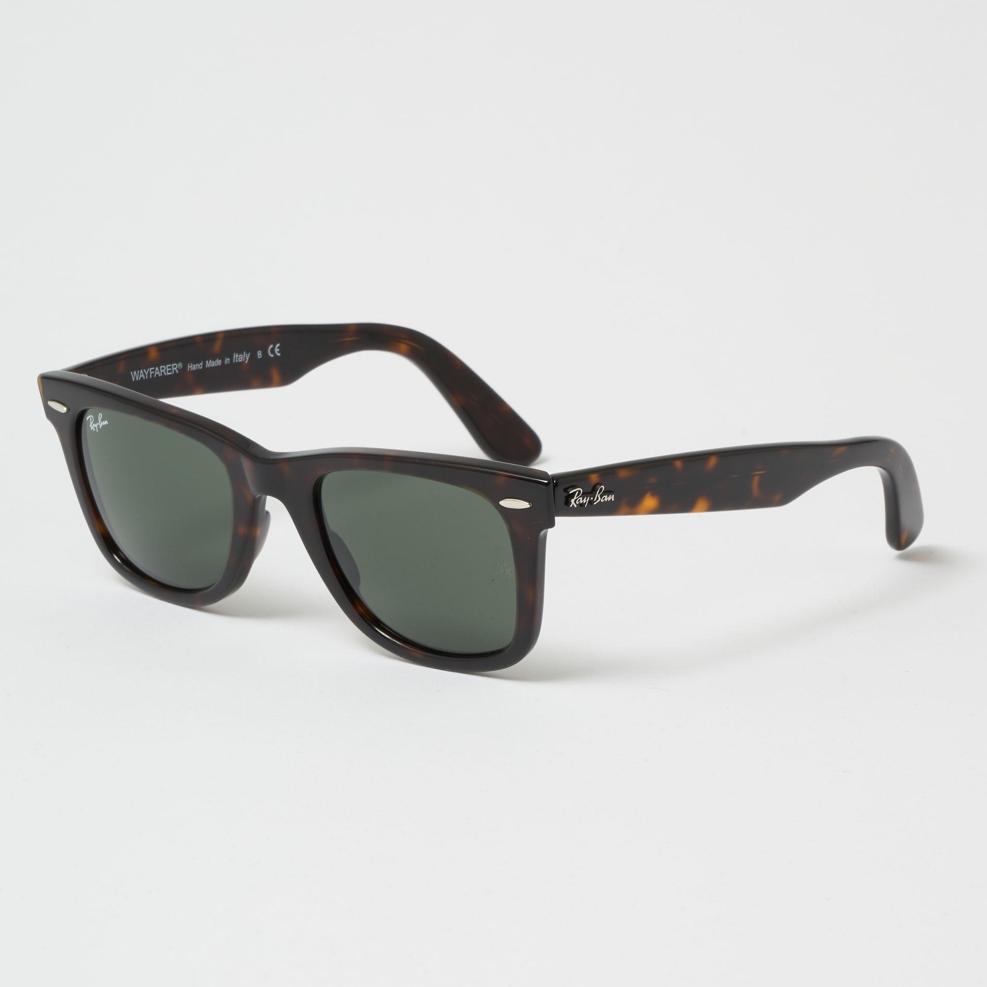 168acfdfdc Tortoise Original Wayfarer Classic Sunglasses - Green Classic G-15 Lenses