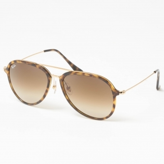 Tortoise RB4298 Sunglasses - Light Brown Gradient Lenses