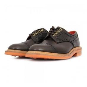 Trickers X Stuarts London Toe Cap Semi Brogue Brown Leather Shoe 921823