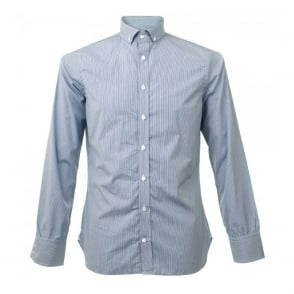 Turnbull & Asser Informalist Fine Check Teal Shirt W5640