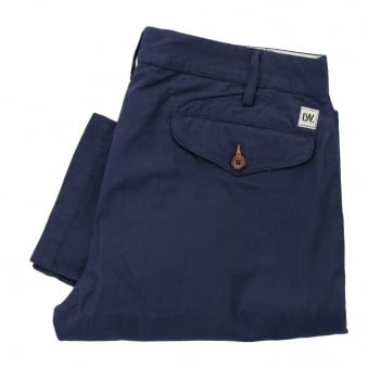 Universal Works Aston Ribbed Stripe Navy Trousers 10119
