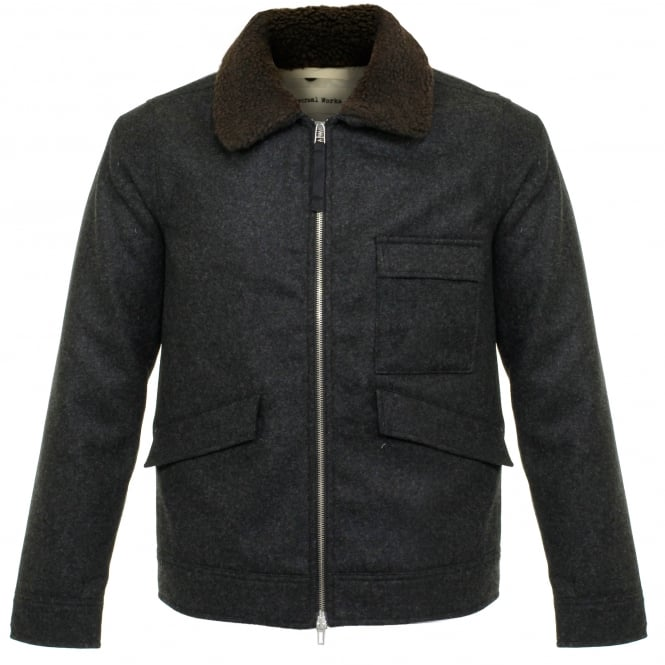 Universal Works Battle Charcoal Wool Jacket 15514
