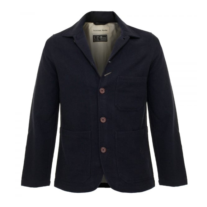 Universal Works Chore Wool Twill Navy Jacket 15123