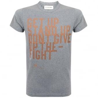 Universal Works Get Up Print Tee Grey Jersey T-Shirt
