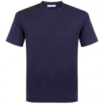 Versace Collection Medusa Round Neck Navy T-shirt V800487