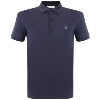 Versace Collection Navy Pique Polo Shirt V800543