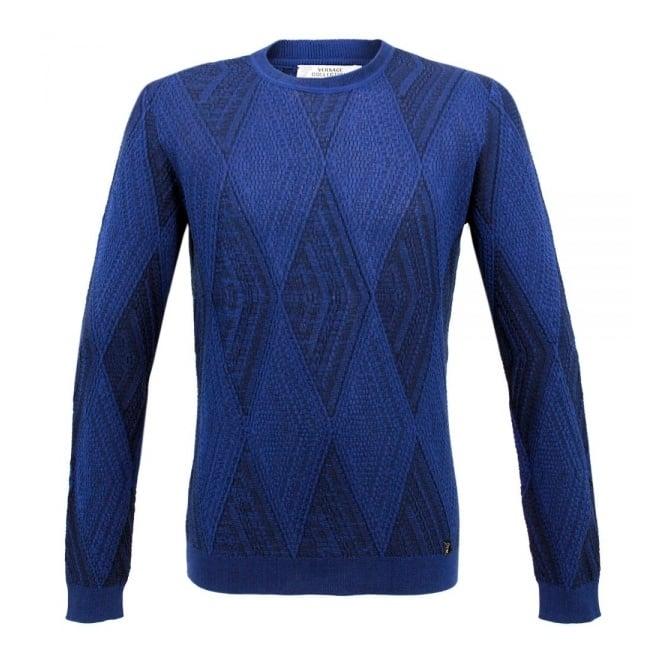 Versace Collection Versace Girocollo Blue  Jumper V700371
