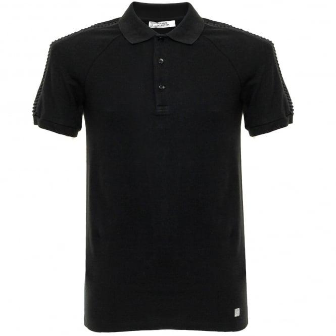 Versace Collection Versace Pique Black Polo Shirt V800729