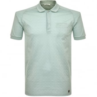 Versace Pocket Aqua Polo Shirt V800580