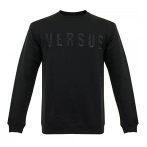 Versus Versace Embroidered Black Sweathsirt BU90233