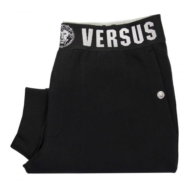 Versus Versace Fleece Black Sweatpants BU40273