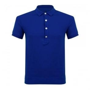 Versus Versace Lion head Blue Polo Shirt BU90207