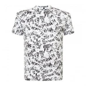 Versus Versace Printed White T-Shirt BU90104