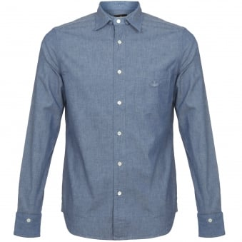 Vivienne Westwood Anglomania Detail Shirt Blue 2506J390496