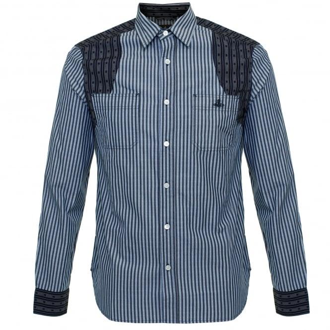 Vivienne Westwood Anglomania Vivienne Westwood Detailed CLassic Blue Shirt 6228851