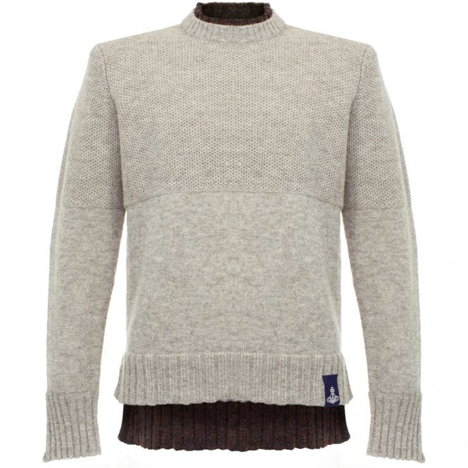 Vivienne Westwood Anglomania Vivienne Westwood Double Collar Neutral Jumper 62288511