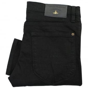 Vivienne Westwood Drain Pipe Black Denim Jeans DS0IHG