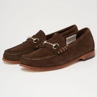Lincoln Palm Springs Reverso Dark Brown Suede Loafers