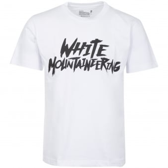 White Logo Printed T-Shirt