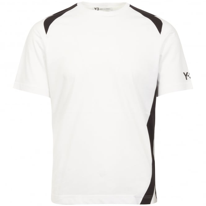 Adidas Y-3 White Panel Insert T-Shirt