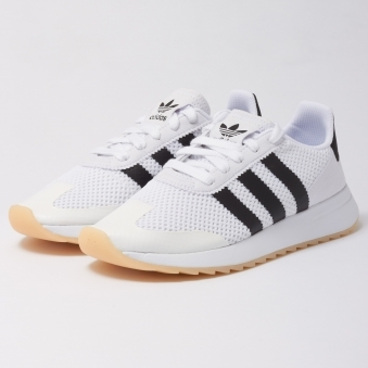 Womens FLB Trainers - Footwear White & Core Black