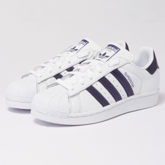 Womens Superstar Trainers - FTWR White & Purple Knight Metallic