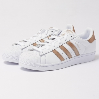 Womens Superstar Trainers - White & Cyber Metallic