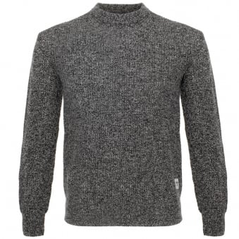 Wood Wood Clifford Black Melange Jumper 11635513