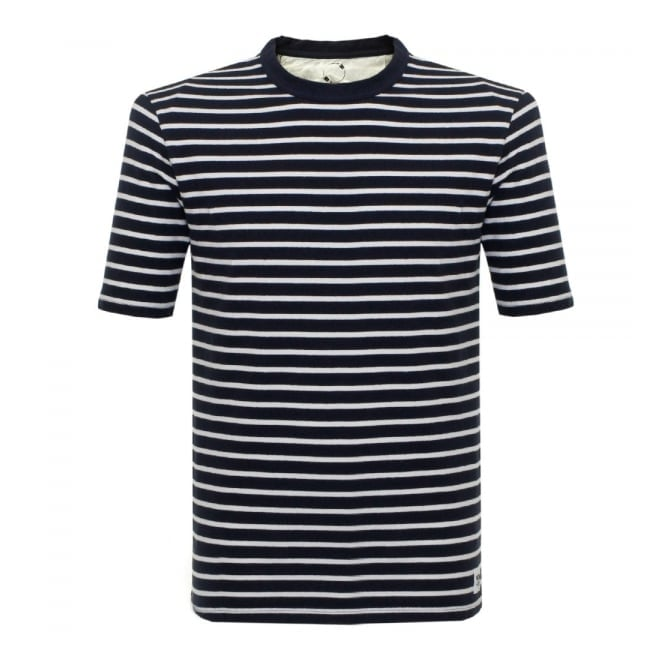 Wood Wood Herman Navy Striped T-Shirt 10005702-2000