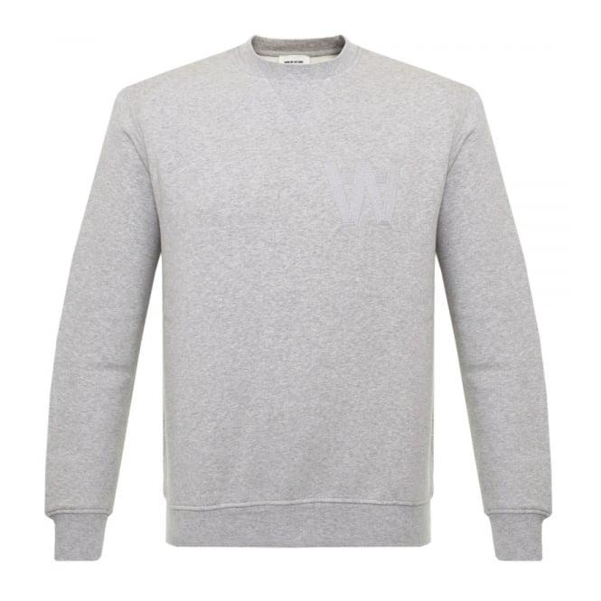 Wood Wood Houston Grey Melange Sweatshirt 10005602-2066