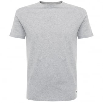 Wood Wood Solid Grey Melange T-Shirt 10005707