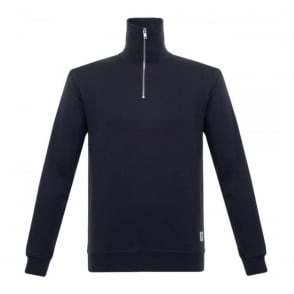 Wood Wood Stanley Dark Navy Zip Sweatshirt 11635601-2082