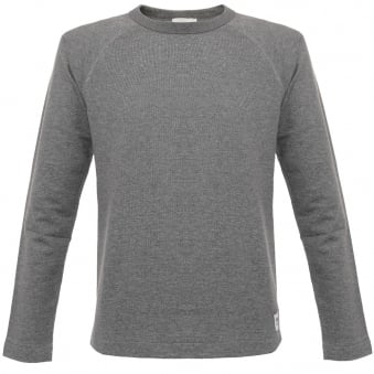 Wood Wood Tyrone Grey Melange Sweatshirt 11635409