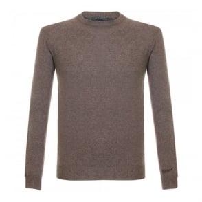 Woolrich Super Geelong Crew Neck Knitted Brown Jumper 029551-7235