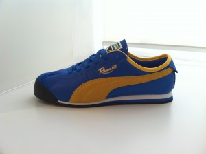 Roma 68 by Puma in Royal and Yellow contrast