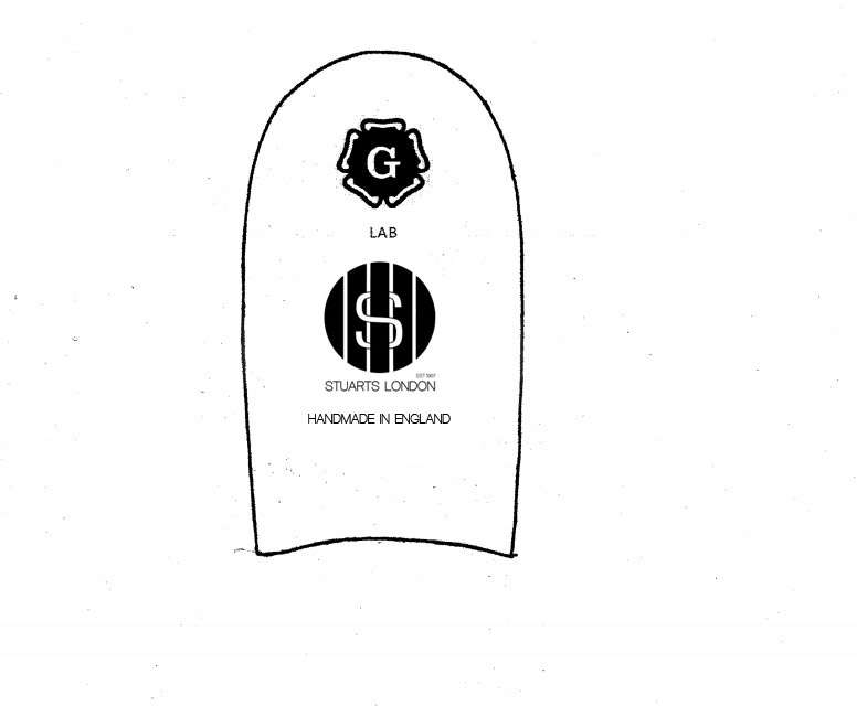 Artwork of the how the design of the inner footbed will be branded.