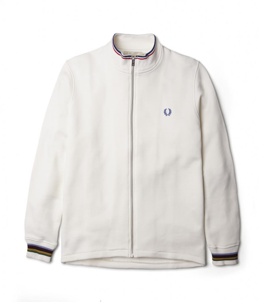 Bradley Wiggins x Fred Perry Track top.