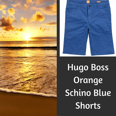 Hugo Boss Orange Schino Blue Shorts
