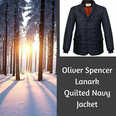 Oliver Spencer Lanark-Quilted Navy Jacket