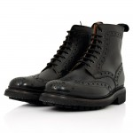 Grenson Fred Black Brouge Boots