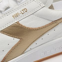 Diadora Borg Elite White & Gold