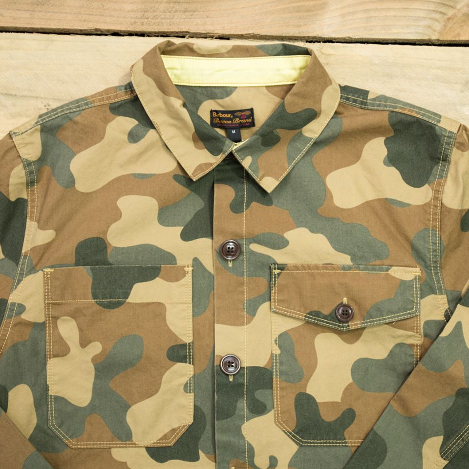 Barbour camouflage jacket