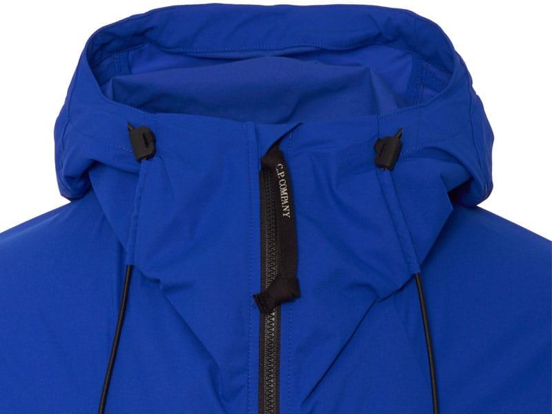CP Company daz blue zip close up