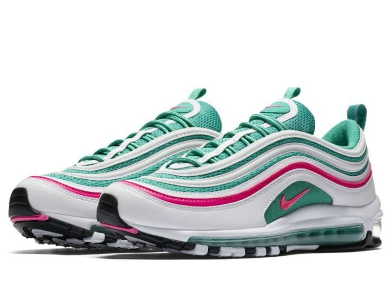 Nike Air Max 97 South Beach both shoes