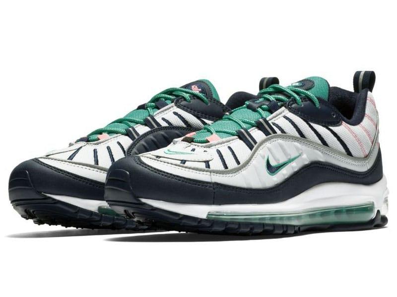 Nike Air Max 98 south beach both shoes view
