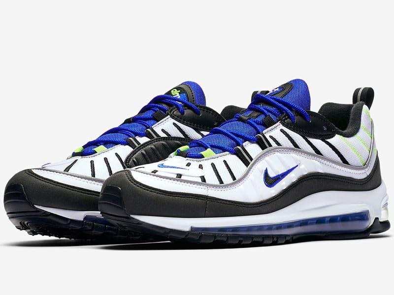 Nike Air Max 98 Volt both shoes