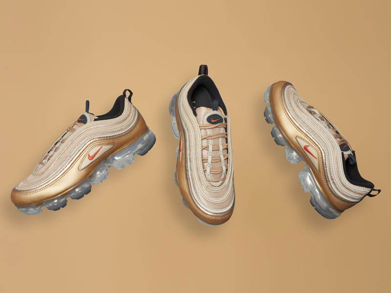 4cd4f19289f The Nike Air VaporMax 97 Gets A Gold Facelift
